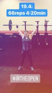 Snatches in den Crossfit Open.