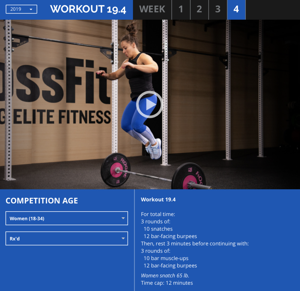 DAs Workout 19.4 der Crossfit Games