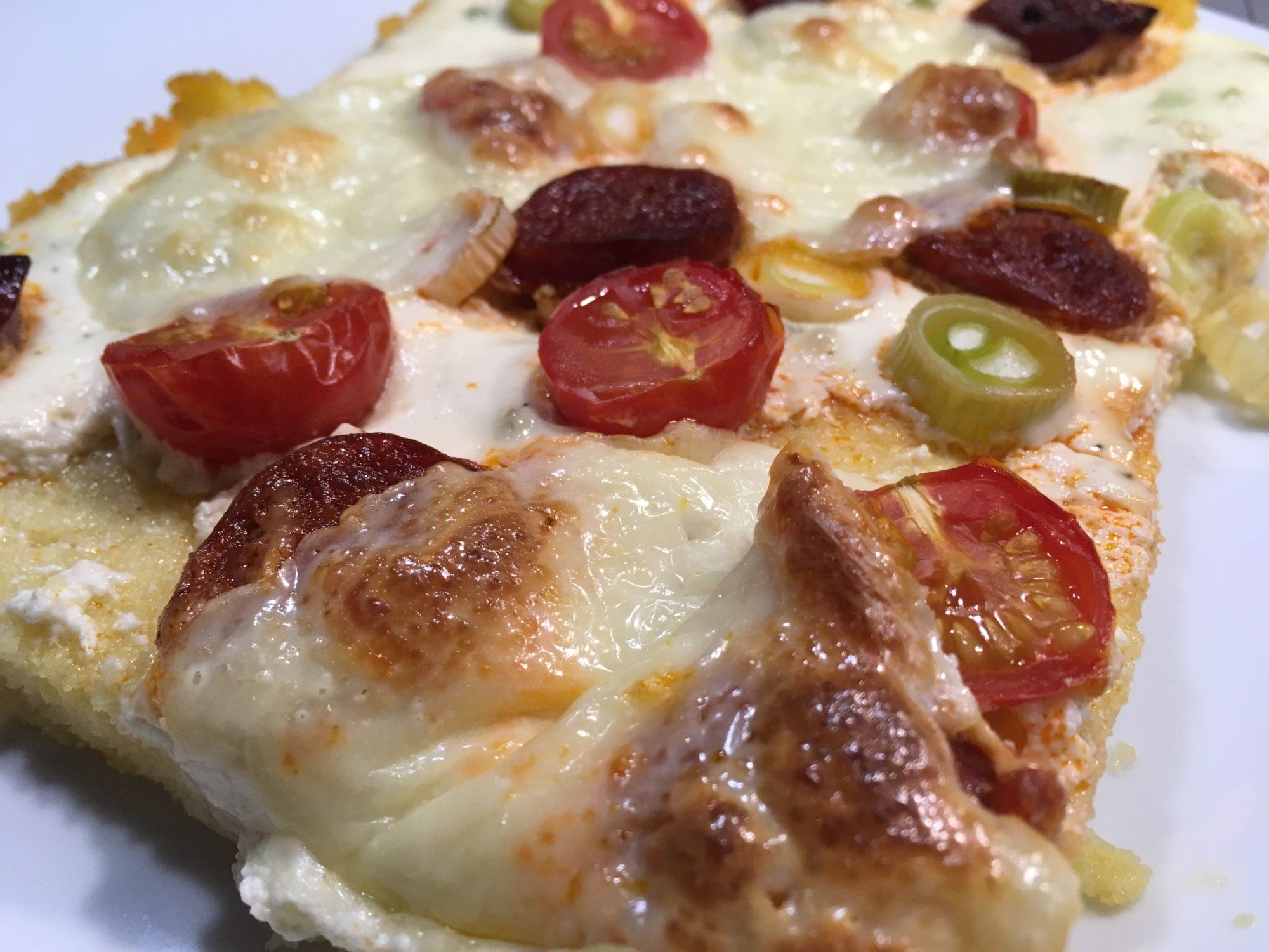 Gebackene Polenta mit Chorizo